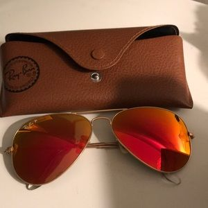 Ray-Ban Aviator polarized: red flash lenses